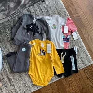 CARTER/'S *NWT 0-3M BABY BOY/'S 3-PC LS//SS OUTFIT SET 3-6M